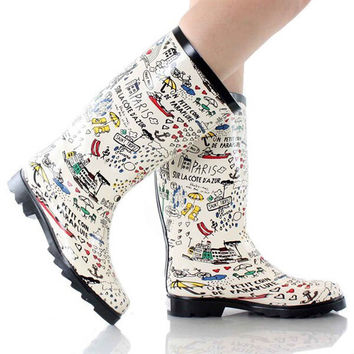 DARLING PARIS RAIN BOOTS