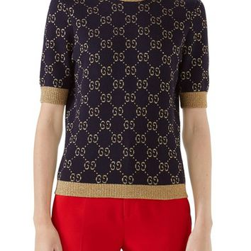 Gucci Metallic GG Sweater | Nordstrom