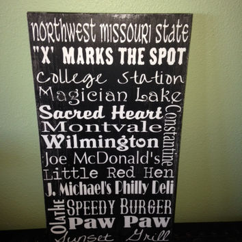 Personalized Wooden Distressed Missouri City Sign 12x20""