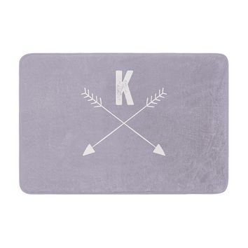 "KESS Original ""Gray Arrow Monogram"" Memory Foam Bath Mat"