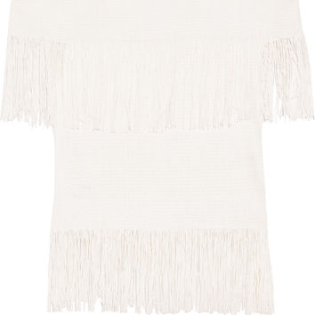 Fringed off-the-shoulder woven top | Jonathan Simkhai | US | THE OUTNET
