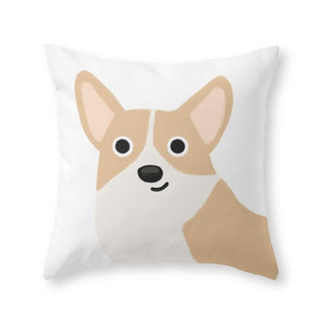 Society6 Corgi Cute Dog S Throw Pillow