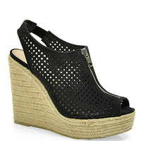 Steve Madden - Olivvia - Perforated Suede Wedge Sandal