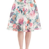 Long A-line Among the Blooms Skirt