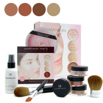 9pcs BareMinerals Get Started Kit-( Skin Rev-er Upper+ 2x Fdn+ Face Color+ Mineral Veil)