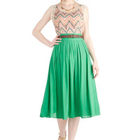 Swish and Spin Skirt in Green