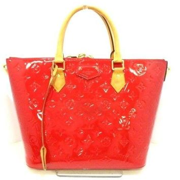 Auth LOUIS VUITTON Montebello MM M90160 Cerise Monogram Vernis DR2184 Handbag