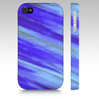 Supermarket: WASHED UP Beach Blue Waves iPhone 4 4S iPhone 5 Cell Phone Case Hard Plastic Cover, Stylish Original Abstract Watercolor Design from Ebi Emporium