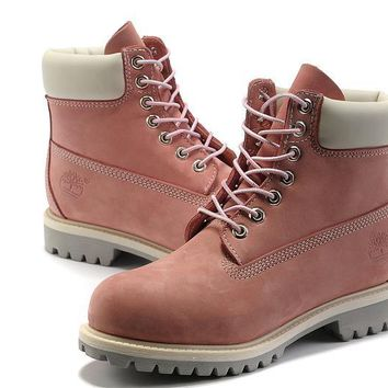 Timberland Rhubarb Boots 2018 White Pink For Women Men Shoes Waterproof Martin Boots