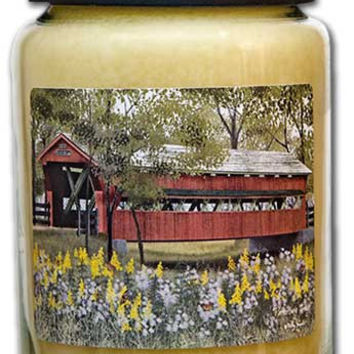 *Covered Bridge Jar Candle, 26oz