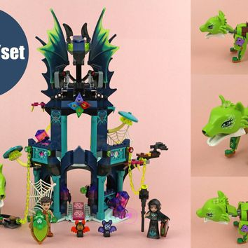 New Elves Noctura's Tower Earth Fox Rescue fit legoings elves fairy figures friends Building Block Bricks 41194 Toy kid gift toy