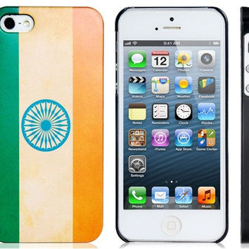 India Flag Plastic Case for iPhone 5S/S