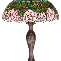 21.5 Inch H Cabbage Rose Table Lamp