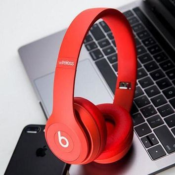 Red Beats solo3 wireless Headphone wireless bluetooth headset shosouvenir