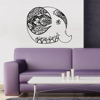 Wall decal art decor decals sticker  animal Good life elephant  Buddhism India Indian Buddha Yoga success god lord (m80)