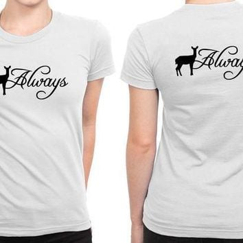 ESBH9S Harry Potter Inspired Always B 2 Sided Womens T Shirt