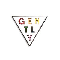 Gently Rainbow Triangle Pin