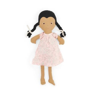 Celia Organic Girl Doll by Hazel Village - Liberty London Dress