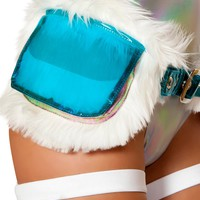 Light-up Faux Woobie Satchel