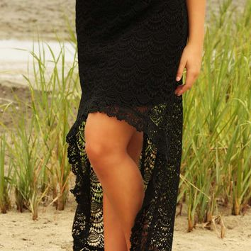 Highs & Lows Skirt: Black - What's New - Hope's Boutique