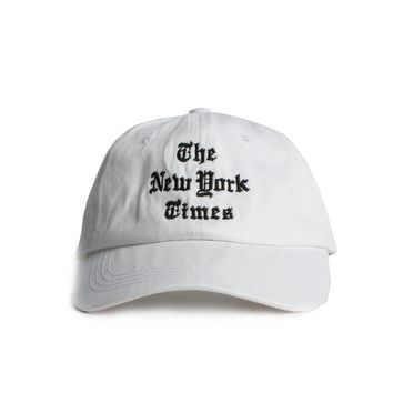 The New York Times Embroidered White Logo Cap by Altru Apparel
