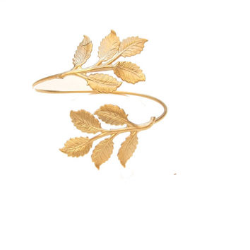 Gold Leaves Gold Cuff, Gold Cuff, Band Leaf Bracelet, Leaf Bracelet, Greek Goddess