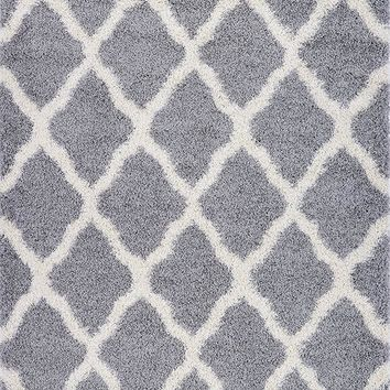 Pierre Cardin Home Shag Collection Trellis Abstract Rug Design Area Rugs