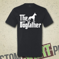 The Dogfather Great Dane T-shirt - Tee - Shirt - Funny - Humor - Parody - The Godfather - Dog Lover - Animal Lover - Dog - Gift for Him