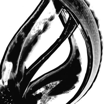 Black and White Painting BW Abstract Art Artwork High Contrast Depth Black Magic 316 Minimalism Minimalist Modern Contemporary Cummings