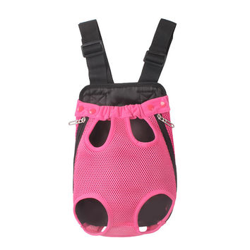 Rose Pink Pet Mesh Pouch Carrier