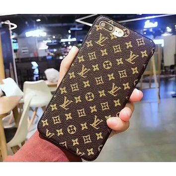 GUCCI men and women models tide brand luxury iphone7plus mobile phone case F-OF-SJK #3