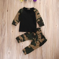 Newborn Kids Camouflage Set Baby Boys Set