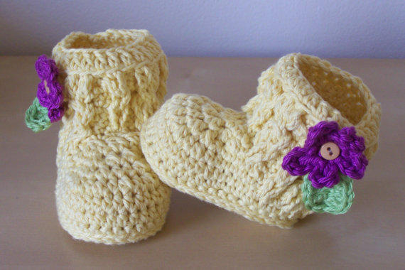 baby girl clothing, crochet baby boots, baby winter clothes