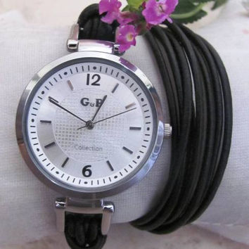 Stylish Quartz Watch with PU Leather - Women Wrist Watch. FREE SHIPPING