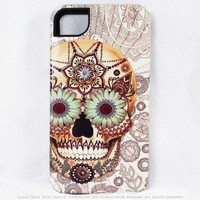 Sugar Skull iPhone 4 case - iPhone 4s case - premium TOUGH iPhone 4 cover - Dia De Los Muertos