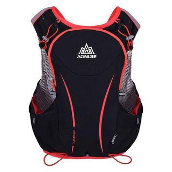 DCCK7N3 AONIJIE Sport Running Backpack Women/Men 5L Light Wight  Marathon Hydration Outdoor Vest PackBag convenient Cycling Hiking Bag