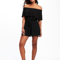 Ruffle-Trim Swim Romper for Women | Old Navy