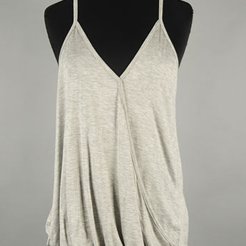 Twist Tank- Heather Gray