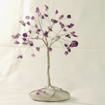 Amethyst wire tree,Wire tree of life,wire sculpture,Gem tree