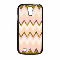 Gold Pink Chevron Samsung Galaxy S4 Case