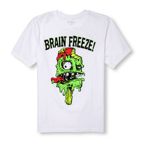 Boys Short Sleeve 'Brain Freeze' Zombie Graphic Tee | The Children's Place