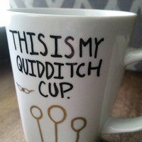 "Harry Potter Inspired Coffee Mug ""Quidditch Cup"""