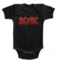 AC/DC Distress Red Kids Bodysuit - Children - Rockabilia