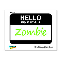 Zombie Hello My Name Is Sticker