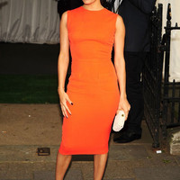 Daily Outfit Idea: Eva Longoria Demonstrates The Right (And Wedding Appropriate—We Promise!) Way To Wear Neon