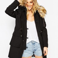 ASOS Parka With Detachable Faux Fur Liner