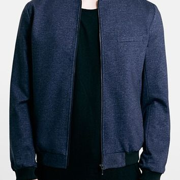 Men's Topman Tailored Jersey Bomber Jacket