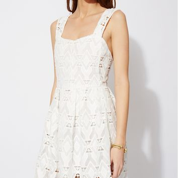 maje RANDY Lace dress with straps at Maje US