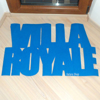 Design floor mat. Villa Royale. Custom door mat, cool and modern.