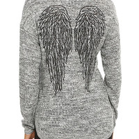 Wings Girls Pullover Sweater